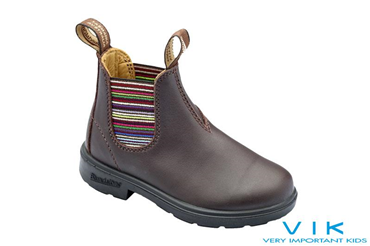 JR BOOT PELLE BROWN ELASTICO RIGHE