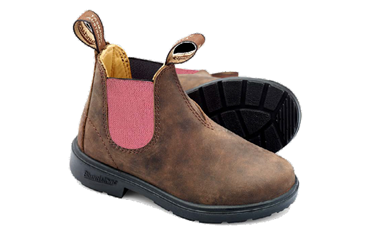 JR BOOT PELLE RUSTIC BROWN ELASTICO PINK