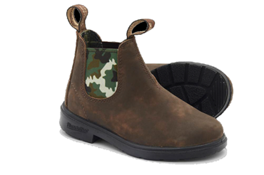 JR BOOT PELLE BROWN ELASTICO CAMO