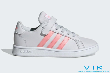 GRAND COURT PS WHITE PINK VELCRO